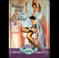 Plaque decoration PIN UP FIFTIES