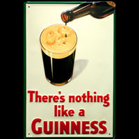 THERE'S NOTHING LIKE A GUINNESS - Plaque métal 20x30cm Bière Guiness