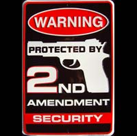 plaque metal protected by 2nd Amendment