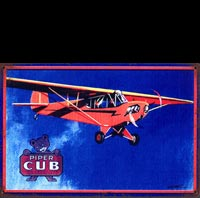PIPER CUB PLAQUE VINTAGE ECO AVION