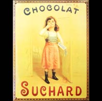 CHOCOLAT SUCHARD FILLETTE PLAQUE PUB