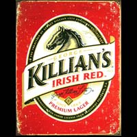 BIERE IRLANDE GEORGE KILLIAN'S RED - Plaque pub métal 31,5x40,5 cm- Plaque métal vintage USED