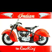 INDIAN AMERICA'S PIONEER MOTORCYCLE PLAQUE PUBLICITAIRE DECO MOTO