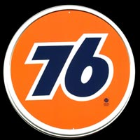 LOGO 76 GASOLINE - PLAQUE DECO GARAGE