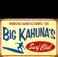 BIG KAHUNA WAVE VAGUE SURF
