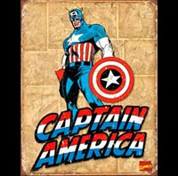 CAPTAIN AMERICA PLAQUE METAL BD