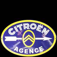 AGENCE CITROEN PLAQUE EMAILLEE PAS CHER