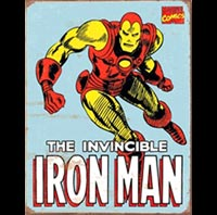 IRON MAN PLAQUE METAL BD