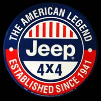 JEEP ROUND VOITURE 4X4 THE AMERICAN LEGEND