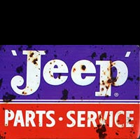 JEEP SERVICE plaque metal vintage garage