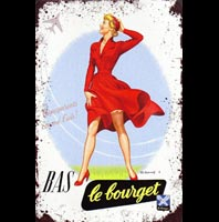 PINUP BAS LE BOURGET PLAQUE VINTAGE TARGET TONIGHT AVION AVIONS PIN UP MISTAKES BETISES BAS COUTURE FETISH
