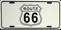 Plaque publicitaire ROUTE 66 ROAD SIGN plaque pub route 66 plaque route 66 route 66 USA - US License plate