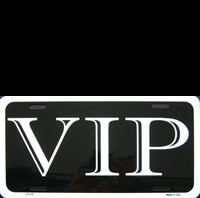 Plaque publicitaire VIP Very Important Personality license plate plaque métal relief VIP deco mythique