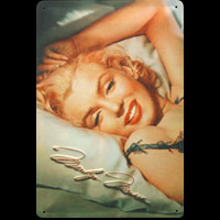 MARYLIN MONROE PIN UP Plaque decoration relief métal 20x30 cm