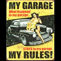 PIN UP MY GARAGE MY RULES