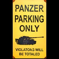 PANZER PARKING ONLY - VIOLATORS WILL BE TOTALED
