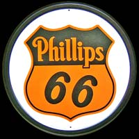 PHILLIPS 66 LOGO PLAQUE METAL