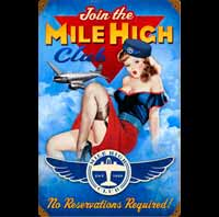 PIN UP HOTESSE DE L'AIR MILE HIGH HOTESSE