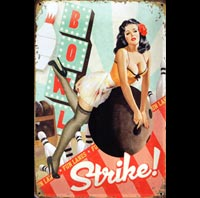PINUP STRIKE BOWLING PIN UP MISTAKES BETISES BAS COUTURE FETISH