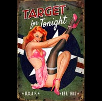 PINUP TARGET TONIGHT AVION AVIONS PIN UP MISTAKES BETISES BAS COUTURE FETISH