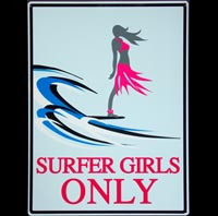 SURFER GIRLS ONLY SPOTGLACE PLAGE ICECREAM VAN BEACH