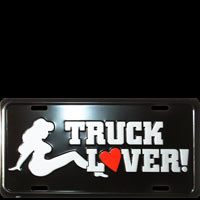 TRUCK LOVER PLAQUE US LICENSE PLATE