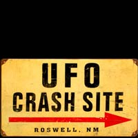 UFO CRASH SITE ROSWELL PLAQUE METAL USA