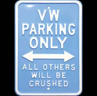 VW PARKING ONLY - SURF - Plaque métal 30x45 cm