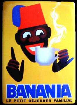banania plaque m tal 15x21 cm. Black Bedroom Furniture Sets. Home Design Ideas