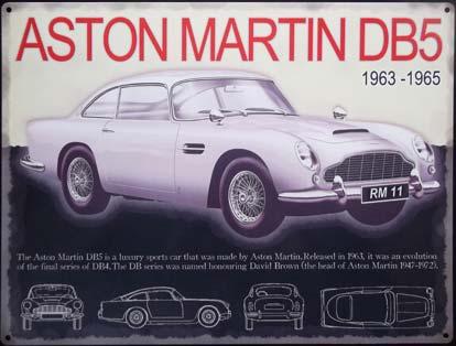 aston martin db5 plaque publicitaire m tal 30x40 cm. Black Bedroom Furniture Sets. Home Design Ideas
