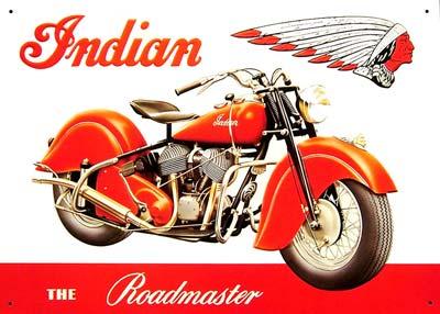 indian the roadmaster plaque m tal 41x30 cm. Black Bedroom Furniture Sets. Home Design Ideas