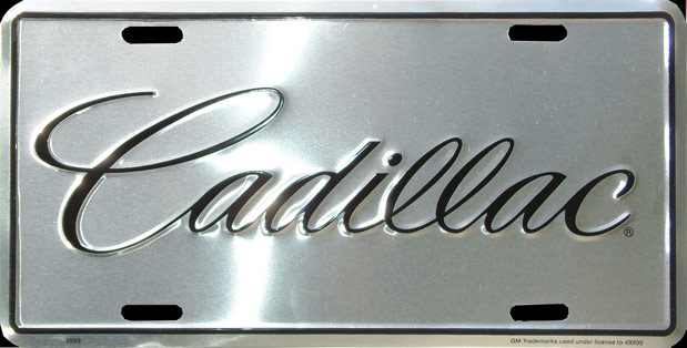 cadillac plaque license plate plaque immatriculation. Black Bedroom Furniture Sets. Home Design Ideas