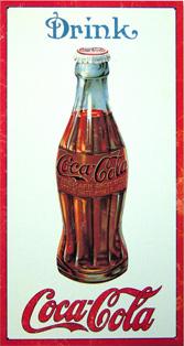 plaque publicitaire drink coca cola. Black Bedroom Furniture Sets. Home Design Ideas
