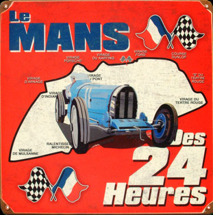 le mans circuit 24 heures plaque publicitaire deco. Black Bedroom Furniture Sets. Home Design Ideas