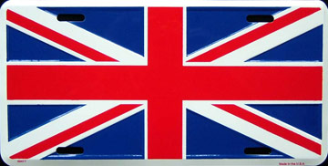 drapeau anglais plaque d 39 immatriculation m tal 30x15 cm. Black Bedroom Furniture Sets. Home Design Ideas