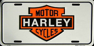 harley motor cycles plaque d 39 immatriculation m tal 30x15 cm. Black Bedroom Furniture Sets. Home Design Ideas