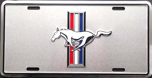 mustang license plate plaque immatriculation. Black Bedroom Furniture Sets. Home Design Ideas