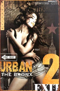 plaque metal pinup bronx urban trash