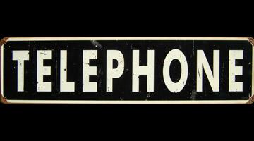 telephone plaque metal rouillee. Black Bedroom Furniture Sets. Home Design Ideas