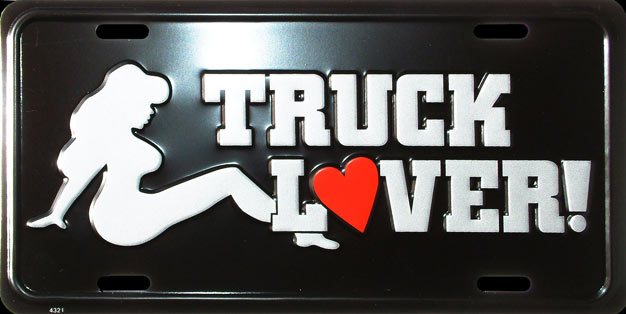 truck lover plaque license plate plaque immatriculation. Black Bedroom Furniture Sets. Home Design Ideas